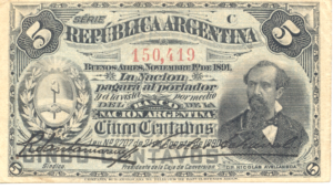Argentina-1891-Bill-0.05-Obverse